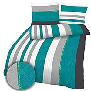 Traumhafte Bettwäsche aus Biber - türkis 135x200 von Ido