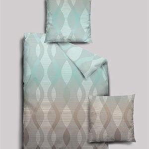 Hübsche Bettwäsche aus Biber - türkis 155x220 von Dormisette