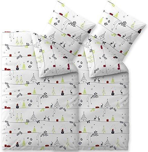 h bsche bettw sche aus biber weihnachten grau 135x200 von celinatex bettw sche. Black Bedroom Furniture Sets. Home Design Ideas