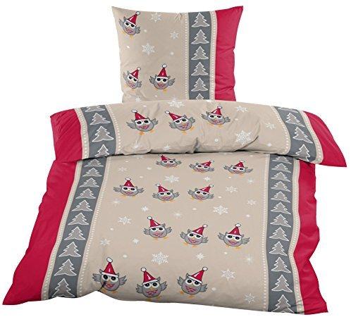 h bsche bettw sche aus biber weihnachten rot 135x200 von home impression bettw sche. Black Bedroom Furniture Sets. Home Design Ideas