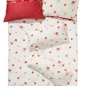 Kuschelige Bettwäsche aus Biber - weiß 155x220 von Erwin Müller
