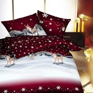 Kuschelige Bettwäsche aus Biber - weiß 155x220 von Kaeppel