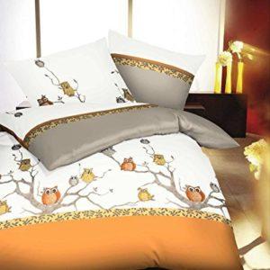 Schöne Bettwäsche aus Biber - weiß 155x220 von Kaeppel