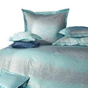 Hübsche Bettwäsche aus Damast - blau 135x200 von Curt Bauer