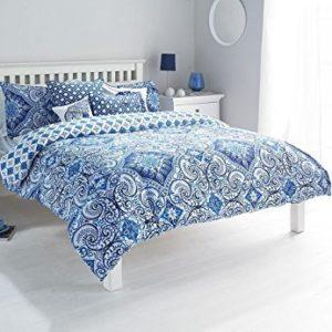 Schöne Bettwäsche aus Damast - blau 135x200 von Duvet Cover