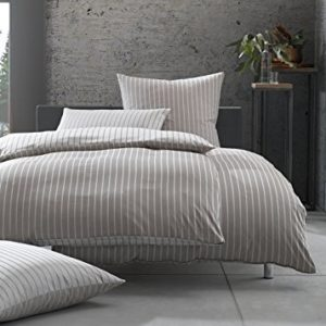 Schöne Bettwäsche aus Damast - braun 135x200 von Bettwaesche-mit-Stil