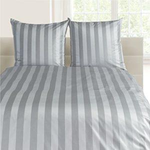 Hübsche Bettwäsche aus Damast - grau 135x200 von Curt Bauer
