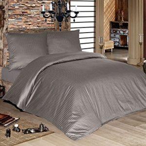 Hübsche Bettwäsche aus Damast - grau 200x200 von Lesara