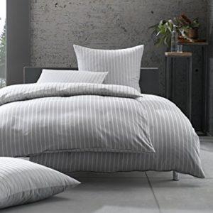 Schöne Bettwäsche aus Damast - grau 220x240 von Bettwaesche-mit-Stil