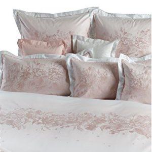 Hübsche Bettwäsche aus Damast - rosa 135x200 von Curt Bauer