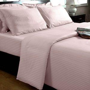 Kuschelige Bettwäsche aus Damast - rosa 155x200 von Homescapes
