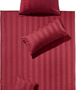Schöne Bettwäsche aus Damast - rot 155x220 von Erwin Müller