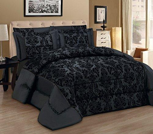 Schöne Bettwäsche aus Damast - schwarz 220x240 von Antonio Saviero