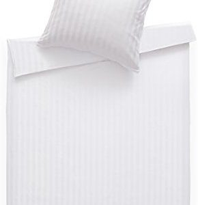 Kuschelige Bettwäsche aus Damast - weiß 135x200 von Bettwaesche-mit-Stil