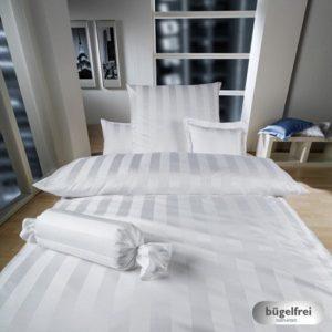 Hübsche Bettwäsche aus Damast - weiß 135x200 von Curt Bauer