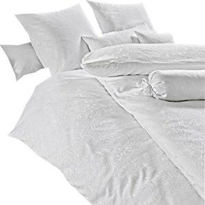 Schöne Bettwäsche aus Damast - weiß 135x200 von Estella
