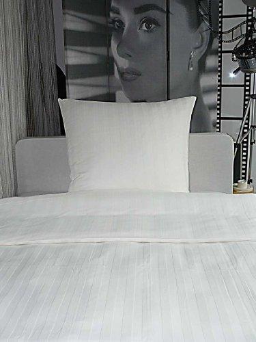 Kuschelige Bettwäsche aus Damast - weiß 135x200