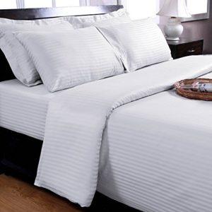 Schöne Bettwäsche aus Damast - weiß 155x200 von Homescapes