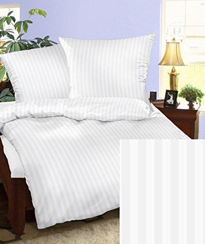 sch ne bettw sche aus damast wei 200x200 von bettwaren. Black Bedroom Furniture Sets. Home Design Ideas
