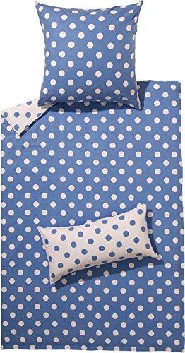 Traumhafte Bettwäsche aus Flanell - blau 135x200 von Erwin Müller