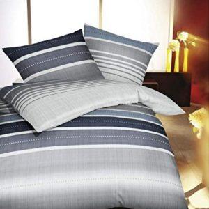 Traumhafte Bettwäsche aus Flanell - blau 135x200 von Kaeppel