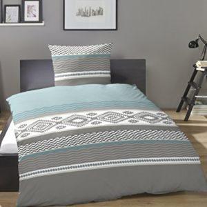Schöne Bettwäsche aus Flanell - blau 135x200 von Primera