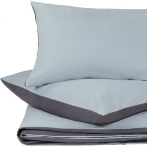 Hübsche Bettwäsche aus Flanell - blau 135x200 von URBANARA