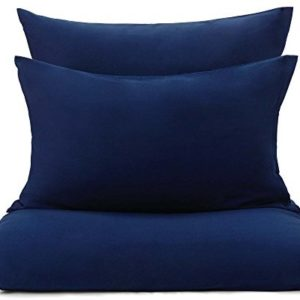 Schöne Bettwäsche aus Flanell - blau 135x200 von URBANARA