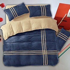 Kuschelige Bettwäsche aus Flanell - blau 155x200 von DecoKing