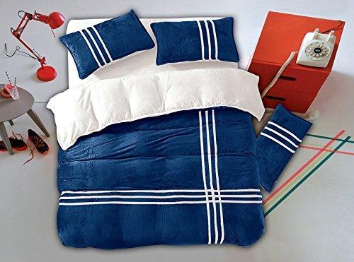 Traumhafte Bettwäsche aus Flanell - blau 155x200 von DecoKing