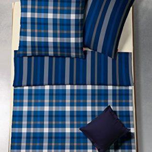 Kuschelige Bettwäsche aus Flanell - blau 155x200 von fleuresse