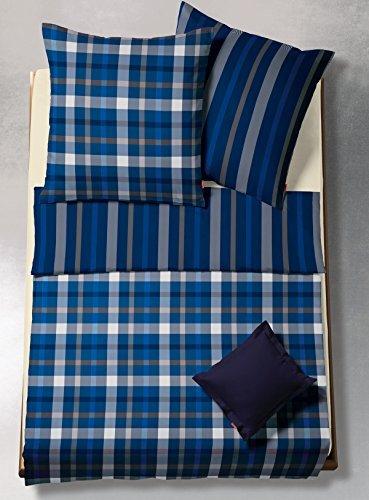 kuschelige bettw sche aus flanell blau 155x200 von. Black Bedroom Furniture Sets. Home Design Ideas