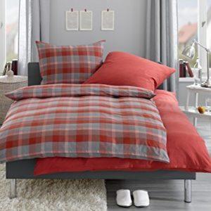 Schöne Bettwäsche aus Flanell - blau 155x220 von Bettwaesche-mit-Stil