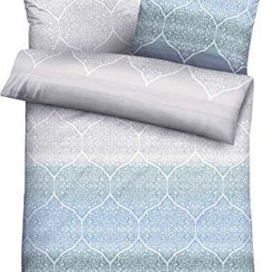 Kuschelige Bettwäsche aus Flanell - blau 155x220 von Biberna