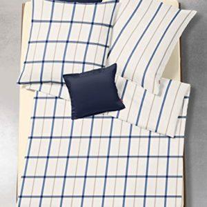 Kuschelige Bettwäsche aus Flanell - blau 155x220 von fleuresse