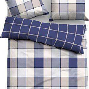 Hübsche Bettwäsche aus Flanell - blau 155x220 von TOM TAILOR