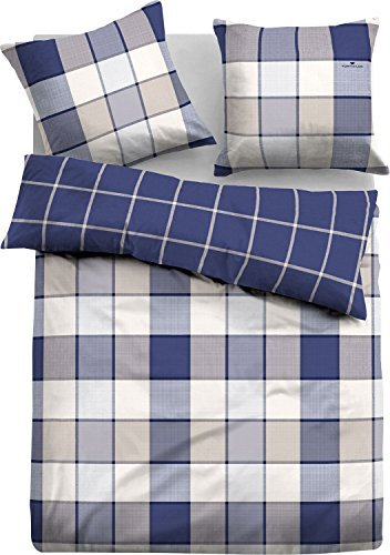 h bsche bettw sche aus flanell blau 155x220 von tom tailor bettw sche. Black Bedroom Furniture Sets. Home Design Ideas