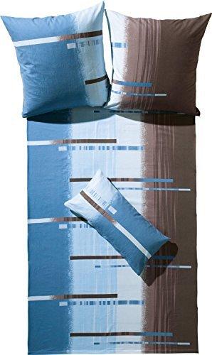 Kuschelige Bettwäsche aus Flanell - braun 135x200 von Erwin Müller