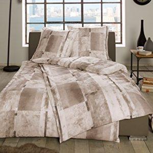 Hübsche Bettwäsche aus Flanell - braun 135x200 von Estella