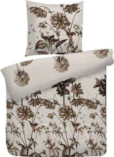 sch ne bettw sche aus flanell braun 135x200 von hnl bettw sche. Black Bedroom Furniture Sets. Home Design Ideas