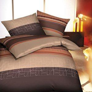 Schöne Bettwäsche aus Flanell - braun 135x200 von Kaeppel