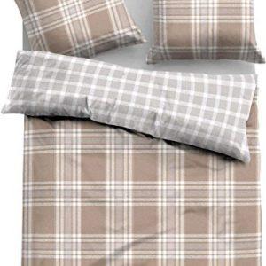 Hübsche Bettwäsche aus Flanell - braun 135x200 von TOM TAILOR
