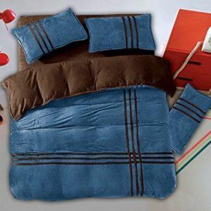 Schöne Bettwäsche aus Flanell - braun 155x200 von DecoKing