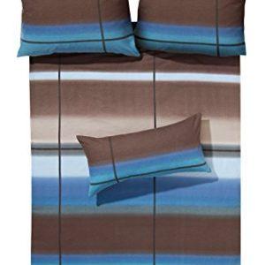 Kuschelige Bettwäsche aus Flanell - braun 155x200 von Erwin Müller