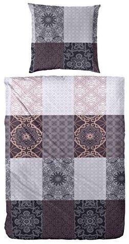 Traumhafte Bettwäsche aus Flanell - braun 155x220 von Primera