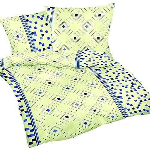 Traumhafte Bettwäsche aus Flanell - gelb 135x200 von Heubergshop