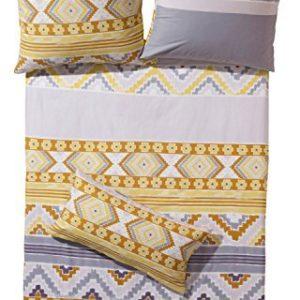 Kuschelige Bettwäsche aus Flanell - gelb 155x220 von Erwin Müller