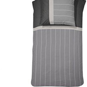 Schöne Bettwäsche aus Flanell - grau 135x200 von Damai