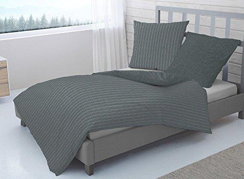 traumhafte bettw sche aus flanell grau 135x200 von dormisette bettw sche. Black Bedroom Furniture Sets. Home Design Ideas