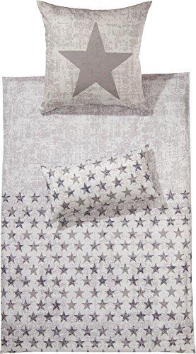 Traumhafte Bettwäsche aus Flanell - grau 135x200 von Erwin Müller